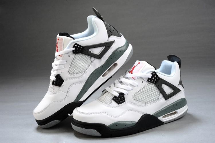 new styles 82f61 abe83 Homme Nike Air Jordan 4 Blanc noir rouge 2012 Pas Cher
