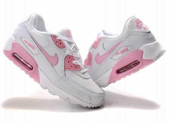 Nike Air Max 90 Chaussure Pour Femme Rose Blanc 2801