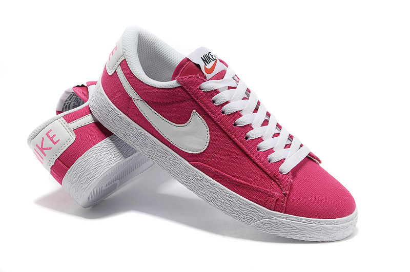 official photos 29e49 d6af0 ... Femme Nike Blazer Low Classic Canvas Rose Pink Blanche
