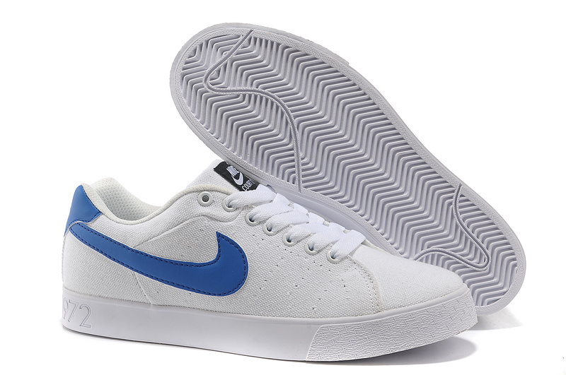2015 Meilleur Nike Blazer Low 1972 Homme Canvas Blanche Bleu