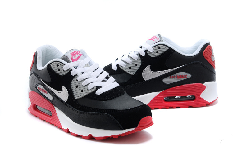 purchase cheap 62ccf c42a6 basket nike air max 90 (homme femme) noir-rouge