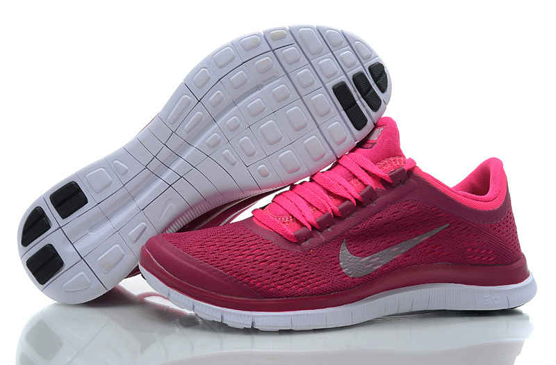 baskets nike free run 3.0 rose fluo